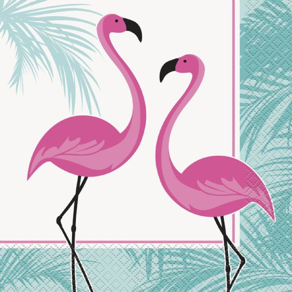 Flamingo Party Napkins 16pk
